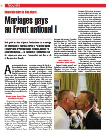 S'opposer au mariage homosexuel
